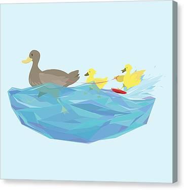 Ducklings Canvas Print - Ducks by Lucy Niedbala