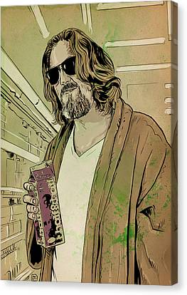 Dude Lebowski Canvas Print by Giuseppe Cristiano