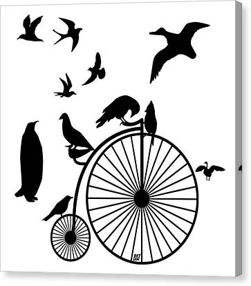 Dude The Birds Are Flocking Transparent Background Canvas Print