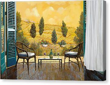 Wine Canvas Print - due bicchieri di Chianti by Guido Borelli