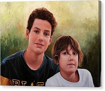 Due Ragazzi Canvas Print by Guido Borelli