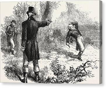 Duel Between Burr And Hamilton Canvas Print