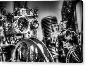 Moving Canvas Print - Dueling Projectors by Scott Norris