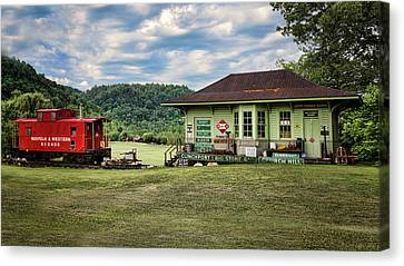 Duffield Depot Canvas Print by Heather Applegate