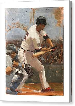 Canvas Print - Duffy At Bat by Darren Kerr