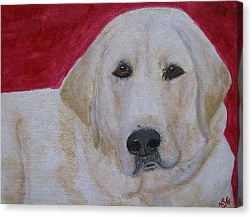 Canvas Print featuring the painting Duke by Barbara Giordano