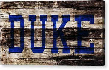 Duke Blue Devils 5b Canvas Print by Brian Reaves