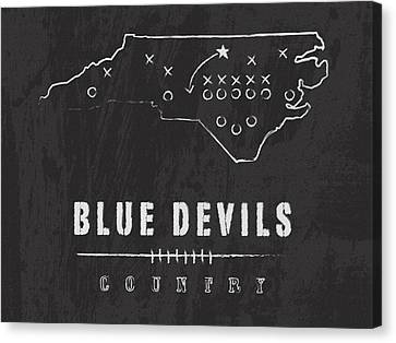 Duke Blue Devils / Ncaa College Football Art / Durham North Carolina Canvas Print