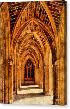 Duke Chapel Canvas Print by Betsy Foster Breen