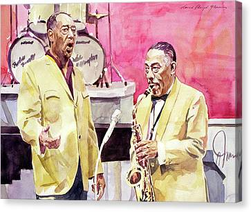 Famous Musician Canvas Print - Duke Ellington And Johnny Hodges by David Lloyd Glover