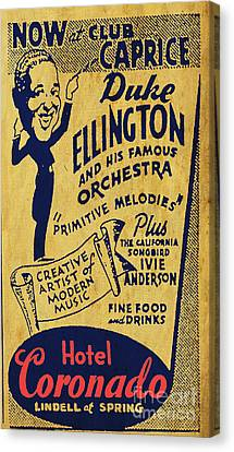 Duke Ellington Old Flyer Canvas Print by Pablo Franchi