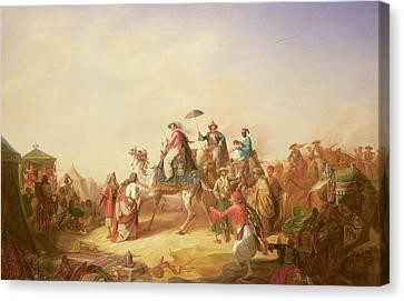 Colonial Man Canvas Print - Duke Ernest Of Saxe Cobourg Gotha's Tour To Egypt by Robert Kretzchmar
