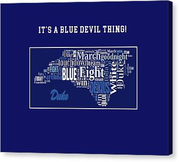 Duke University Fight Song Products Canvas Print