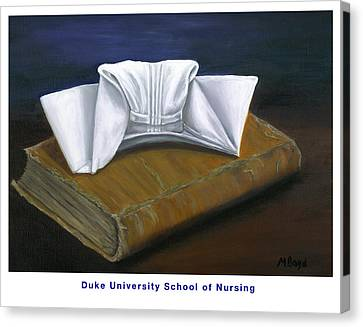 Duke University School Of Nursing Canvas Print by Marlyn Boyd