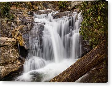 Dukes Creek Falls Canvas Print by Michael Sussman