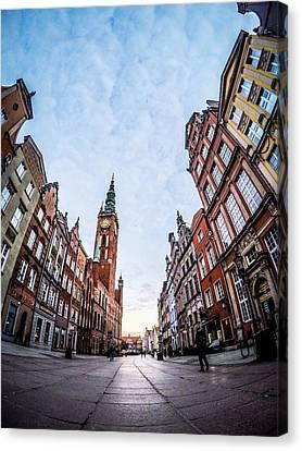 Dulga Street - Gdansk Canvas Print by Michael Dolicke