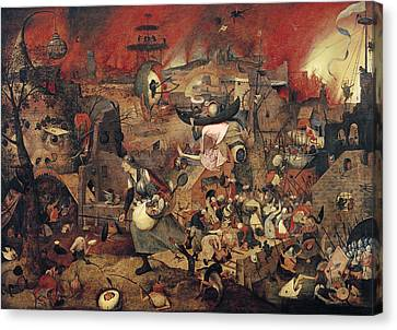 Dull Gret Canvas Print by Pieter the Elder Bruegel