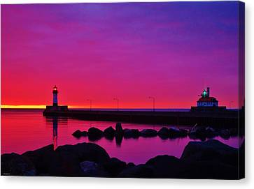 Duluth Canal Morning Canvas Print by Jan Swart