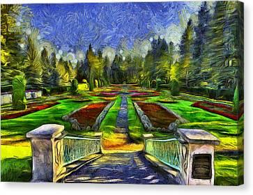 Duncan Gardens Van Gogh Style Canvas Print by Mark Kiver