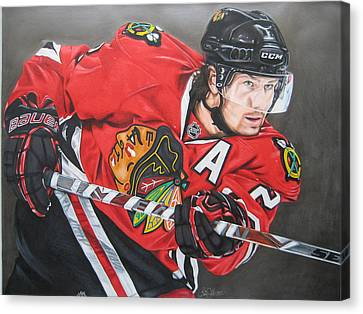 Nhl Hockey Canvas Print - Duncan Keith by Brian Schuster