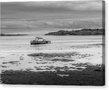 Dundrum The Old Boat Wreck Canvas Print