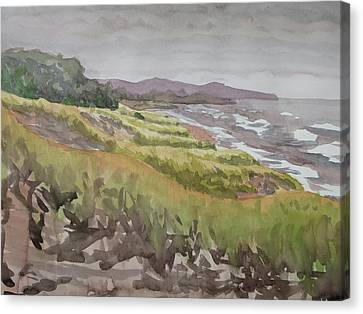 Dune Grass Field Canvas Print by Bethany Lee