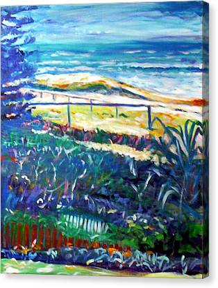 Canvas Print featuring the painting Dune Grasses by Winsome Gunning