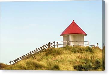 Red Roof Canvas Print - Dune Pavilion by Wim Lanclus