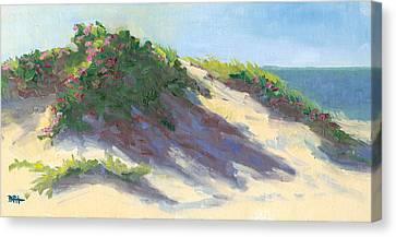 Dune Roses Canvas Print by Barbara Hageman