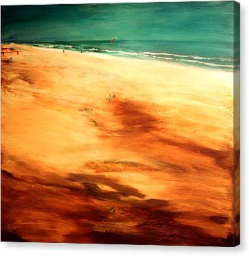Canvas Print featuring the painting Dune Shadows by Winsome Gunning