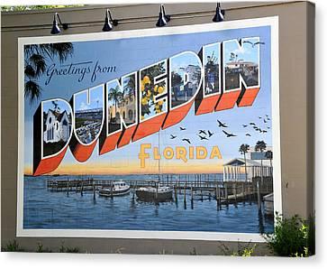 Dunedin Florida Post Card Canvas Print