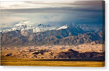 Dunes And Sangre De Christos Canvas Print by Adam Pender