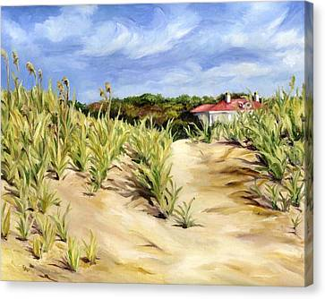 Dunes At Seabrook Canvas Print by Cheryl Pass