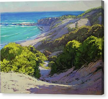 Dunes At Slodiers Beach Canvas Print by Graham Gercken