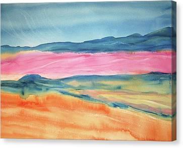 Canvas Print featuring the painting Dunes by Ellen Levinson