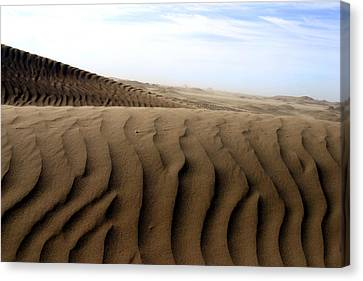 Dunes Of Alaska Canvas Print by Anthony Jones