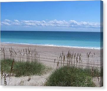 Canvas Print featuring the photograph Dunes On The Outerbanks by Sandi OReilly