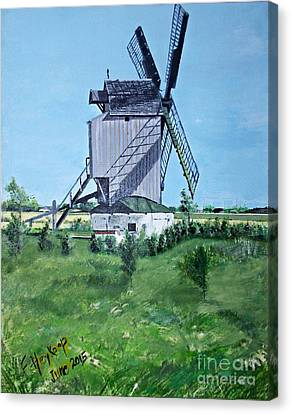 Dunkerque Windmill North Of France Canvas Print