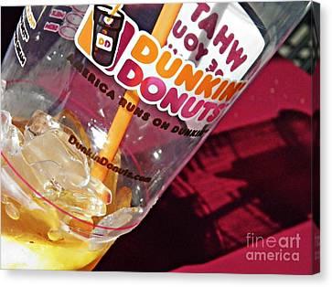 Dunkin Ice Coffee 29 Canvas Print