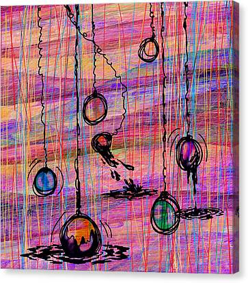 Dunking Ornaments Canvas Print by Rachel Christine Nowicki