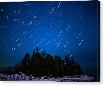 Dunks Point Star Trail Canvas Print