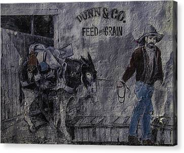 Prospector Canvas Print - Dunn Co Feed And Grain by Garry Gay