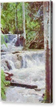 Waterfalls Canvas Print - Dunn River Falls by Jeffrey Kolker