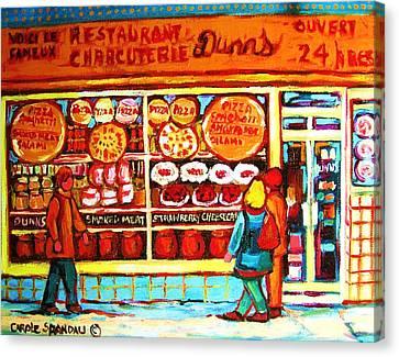 Dunn's Treats And Sweets Canvas Print by Carole Spandau