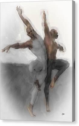 Duo Dancers Canvas Print by Quim Abella