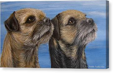 Animal Artist Canvas Print - Duo by Daniele Trottier