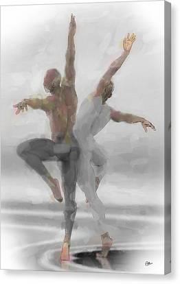 Duo De Bailarines Canvas Print by Quim Abella
