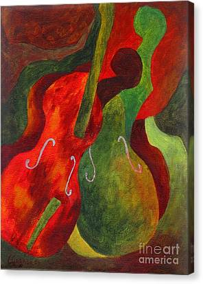Duo Fiddles Canvas Print