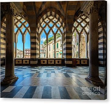 Duomo Di Amalfi Canvas Print by Inge Johnsson