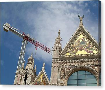 Duomo Di Siena Canvas Print by Victoria Lakes